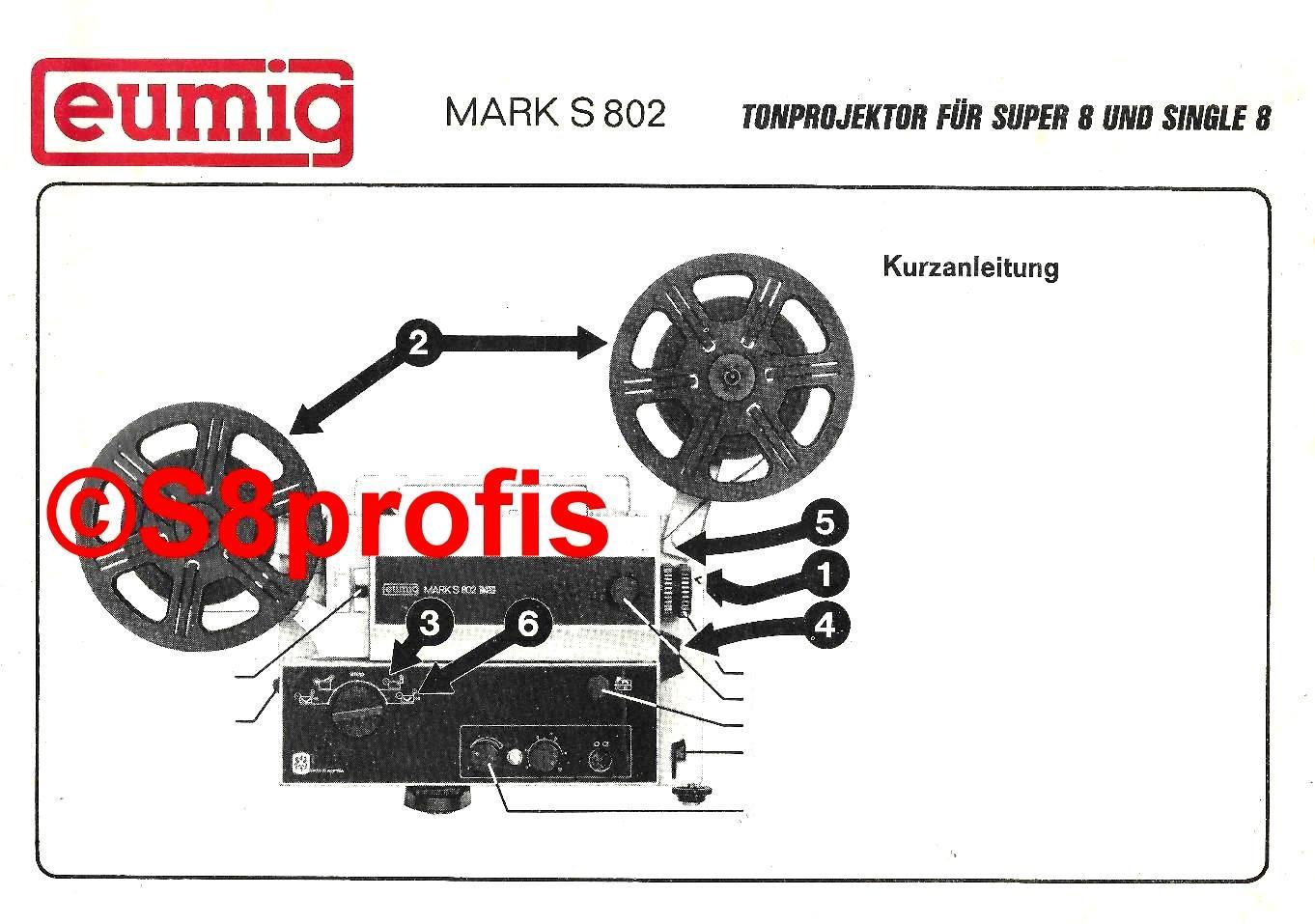 User manual Eumig MARK-S-802